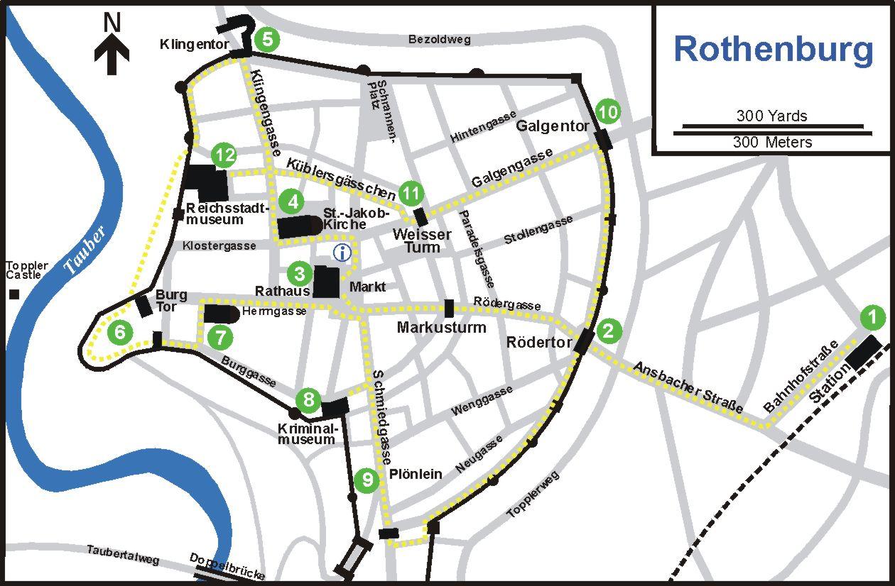 Lifes Little Adventures Rothenburg ob der Tauber Germany – Map Rothenburg Germany