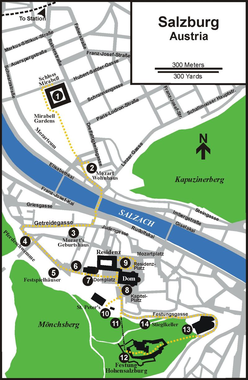 Lifes Little Adventures SALZBURG AUSTRIA – Salzburg Tourist Map